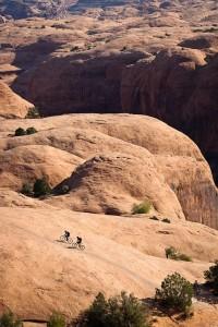 Riding the slick rock in Utah